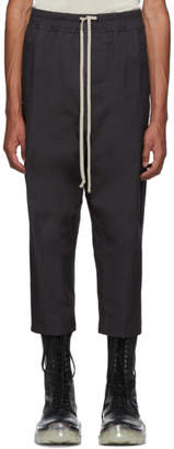 Rick Owens Grey Drawstring Astaires Cropped Trousers