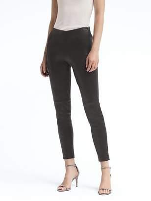 Banana Republic Petite Devon Legging-Fit Stretch Leather Ankle Pant