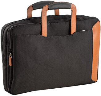 Bey-Berk Bey Berk Saddle Leather & Ballistic Nylon Briefcase