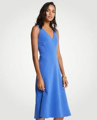 Ann Taylor Petite V-Neck Midi Flare Dress