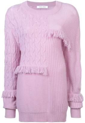 Prabal Gurung cashmere fringed sweater