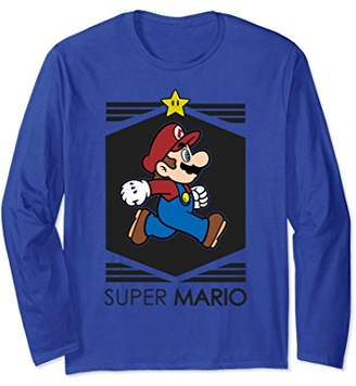 Nintendo Super Mario Star Walk Streetwear Long Sleeve Tee
