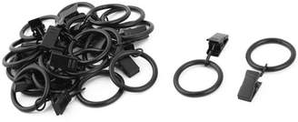 Ring Black Unique Bargains Curtain Clips Strong Metal Decorative Drapery window Curtain Ring with Clip Vintage 1.3 Inch Inner Dia Black 20pcs