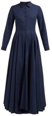 Evi Grintela Juliette Cotton Maxi Shirtdress - Womens - Navy