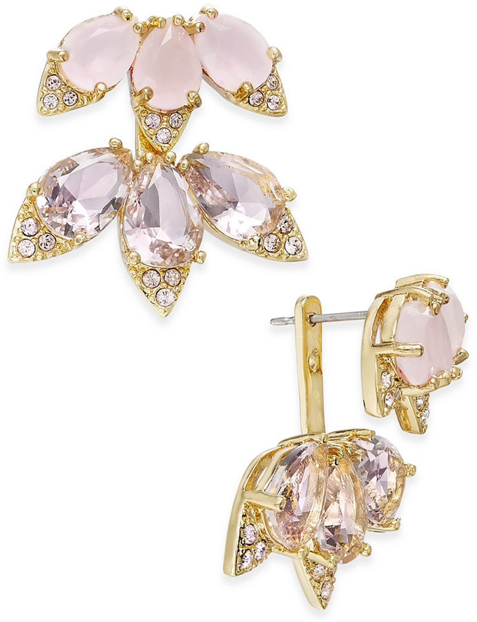 Kate Spade kate spade new york 14k Gold-Plated Pink Stone and Crystal Earring Jackets