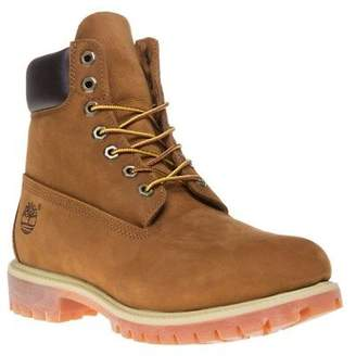 Timberland New Mens Tan Brown 6` Premium Nubuck Boots Lace Up