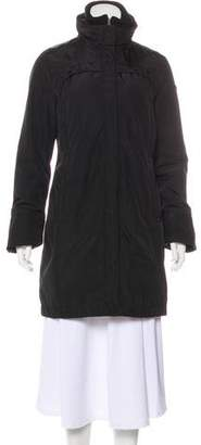 Post Card Puffer Zip-Up Coat