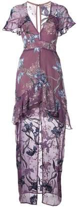 For Love & Lemons orchid V-neck dress