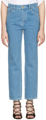 Chloé Blue Scalloped Jeans