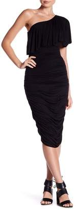 Bailey 44 Roomba One-Shoulder Ruched Dress