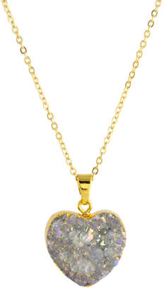 Couture By Lolita Agate Druzy Heart Crystal Necklace