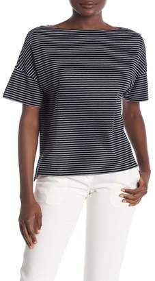 Vince Boatneck Classic Stripe Print T-Shirt