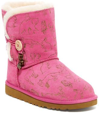UGG Australia Fauna Genuine Sheepskin Lined Button Charm Boot (Little Kid & Big Kid) $139.95 thestylecure.com