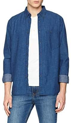Nudie Jeans Men's Stanley Deep Blue Casual Shirt, (B26 Denim)