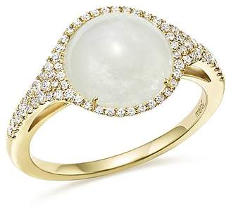 Meira T 14K Yellow Gold Rainbow Moonstone and Diamond Ring