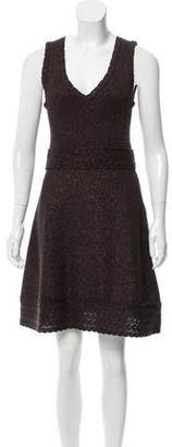 Andrew Gn Metallic-Accented Mini Dress