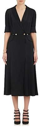 Mayle Maison Women's Vita Plissé Silk Midi-Dress