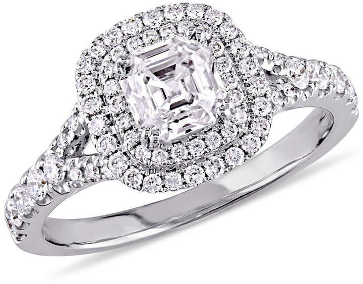 MODERN BRIDE Womens 1 1/5 CT. T.W. Asscher White Diamond 14K Gold Engagement Ring