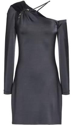 Cushnie et Ochs One-Shoulder Gathered Stretch-Jersey Mini Dress