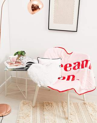 Cotton On dream on throw in pink