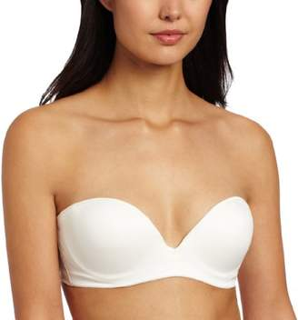 Carnival Women's Seamless Molded Low Plunge Bandeau Bra