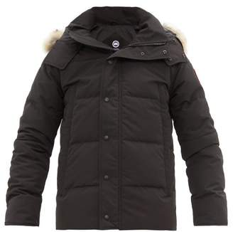 Canada Goose Wyndham Quilted Down Hooded Parka - Mens - Black