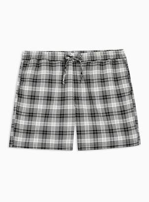 Topman Black and White Checked Shorts