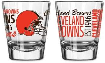 Boelter NFL Cleveland Browns 2-Pack Shot Glass Set