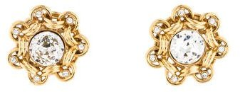 Chanel Chanel Crystal Clip-On Earrings