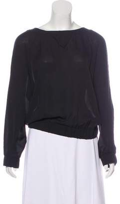 Band Of Outsiders Silk Long Sleeve Blouse