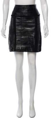 Proenza Schouler Laser-Cut Leather Skirt