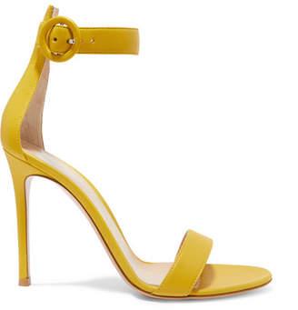 f7eb5397a91e Gianvito Rossi Portofino 105 Leather Sandals - Yellow