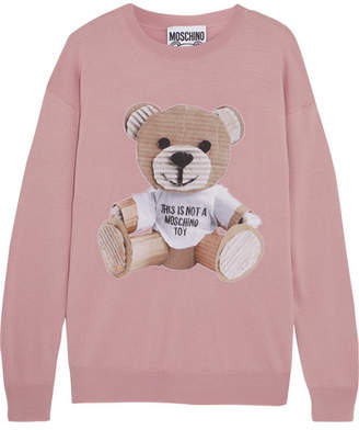 Moschino - Intarsia Wool Sweater - Pink $750 thestylecure.com