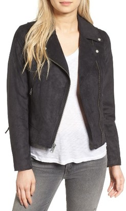 Women's Andrew Marc Farryn Side Lace Faux Suede Jacket $150 thestylecure.com