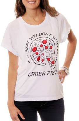 Freeze Women's Order Pizza Hi-Lo Graphic T-Shirt