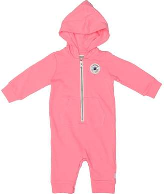 Converse Baby Girls Hooded Coverall Sleepsuit