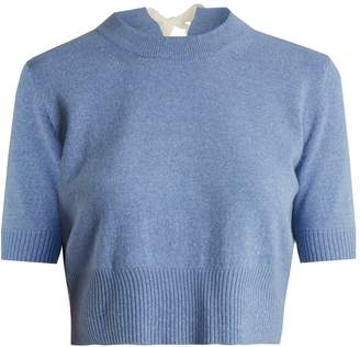 Tuileries tie-neck cropped sweater