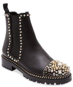 Christian Louboutin Chasse A Clou Studded Cap Toe Chelsea Booties
