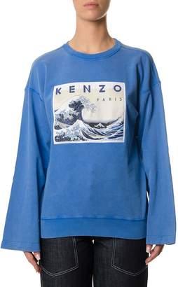 Kenzo Blue Knitwear With Kimono Sleeves