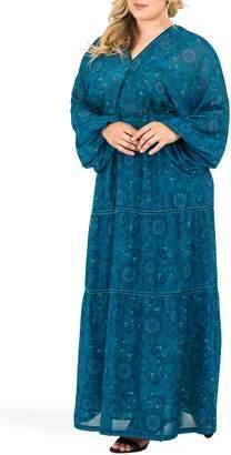 Standards & Practices Maxine Floral Print Maxi Dress