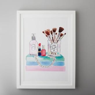 "Pottery Barn Teen Makeup Framed Gallery Art By Evelyn Henson, 18""x24"""