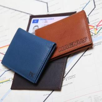 NV London Calcutta Personalised Leather Travel Card / ID Holder
