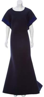 Zac Posen Embellished Neoprene Dress
