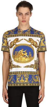 Versace Signature Baroque Printed Jersey T-Shirt