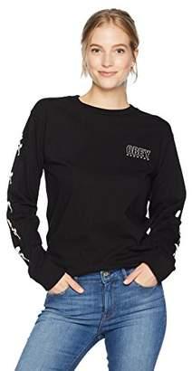 Obey Junior's Records Long Sleeve Crewneck Tshirt