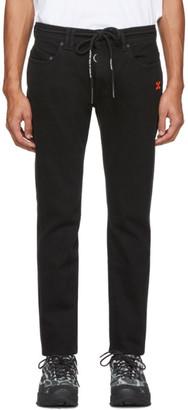 Off-White Black Diag Skinny Jeans