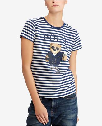 Polo Ralph Lauren Striped Graphic Cotton T-Shirt