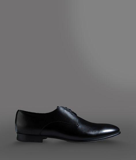 Giorgio Armani Derby In Prestige Calfskin With Leather Sole