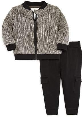 Miniclasix Boys' Tweed Jacket, Tee & Cargo Pants Set - Baby