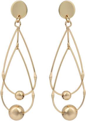 Oliver Bonas Eternal Linked Teardrop & Bead Earrings
